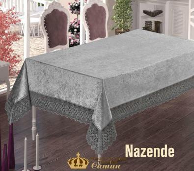 Скатерть Велюр Maison Royale 160x300 Nazende Grey