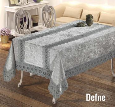 Скатерть Велюр Maison Royale 160x220 Defne Grey
