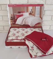 Постельное белье Maison D'or сатин семейный Diana Rose Red