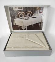 Скатерть Set Maison D'or 160х320+12psc Tiana T.Cloth Gold