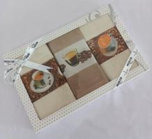 Подарочный набор кухонных полотенец Maison D'or Coffee Time