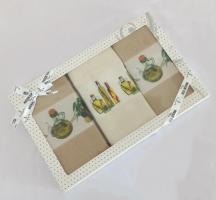 Подарочный набор кухонных полотенец Maison D'or Olive 1