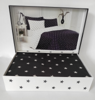 Постельное белье Maison D'or сатин 160х220 Stars Antracite