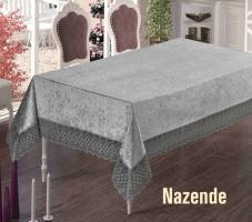 Скатерть Велюр Maison Royale 160x260 Nazende Grey