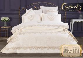 Набор покрывало с постельным бельем Ayberk Dilan Ceyiz Krem