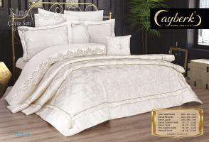 Набор покрывало с постельным бельем Ayberk Lina Ceyiz Krem