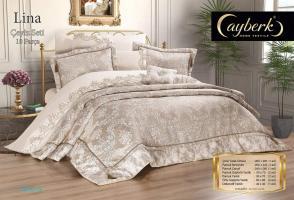 Набор покрывало с постельным бельем Ayberk Lina Ceyiz Bej