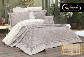Набор покрывало с постельным бельем Ayberk Lina Ceyiz Gri