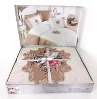 Постільна білизна Cotton Box Brode сатин 200X220 Elite Bej